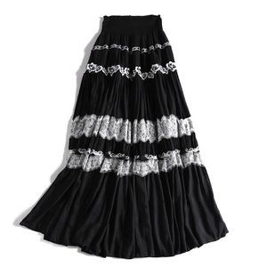 NEW🔥 Pinko Tulle Maxi Skirt In Black